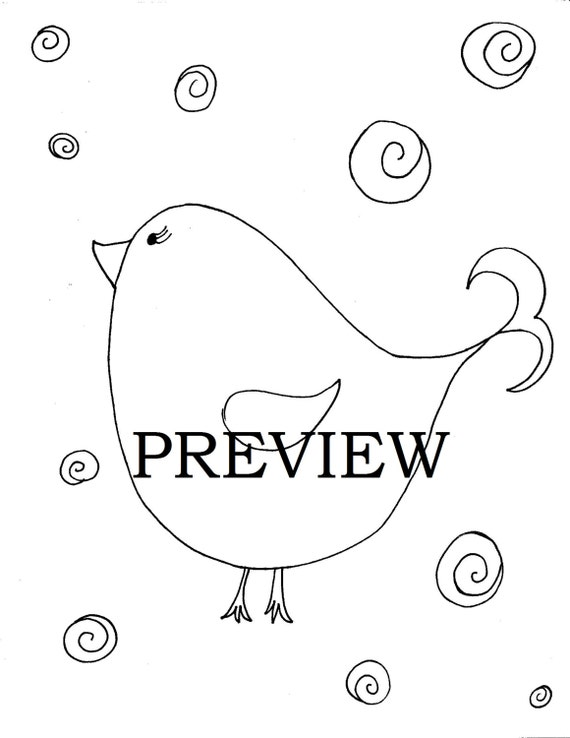 Printable Bird Easy Coloring Pages for Adults Big