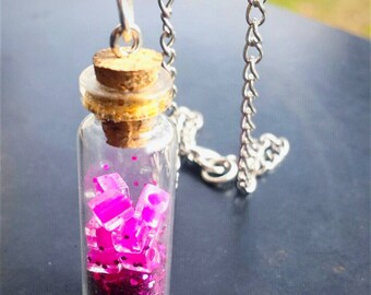 Pink Vial Necklace