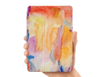 ipad pro 9.7 case smart case cover for ipad mini air 1 2 3 4 5 6 pro 9.7 12.9 retina display watercolor abstract painting
