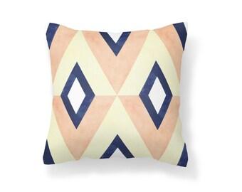 Throw Pillow Geometric, Decroative Pillow, navy pillow, white pillow, blue pillow, orange pillow, yellow pillow