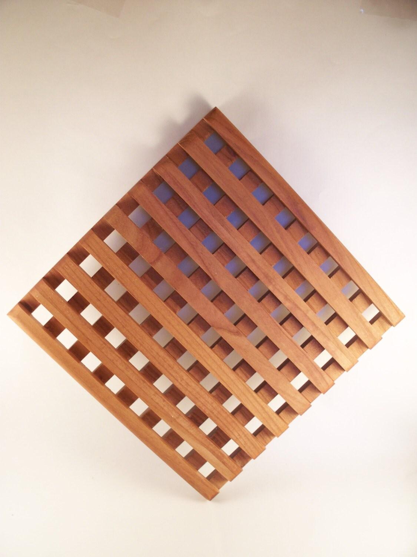 wood trivet large cherry wooden trivet wooden trivet. Black Bedroom Furniture Sets. Home Design Ideas