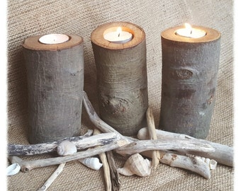 Rustic Branch Tea Light Holder