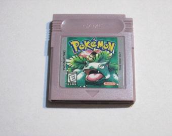 Gameboy original Pokemon Green Version English hack fan made cartridge gba color