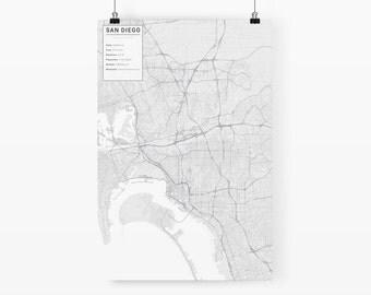 San Diego, California City Map