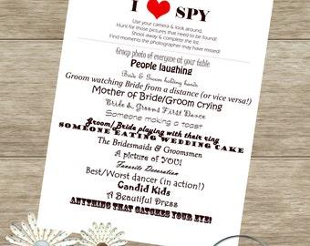 I SPY Wedding Game- Custom Digital