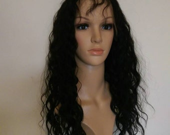 "Full lace Brazilian human hair wig 20"" curly"