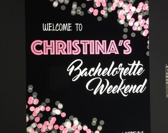 Customized Bachelorette Party Sign