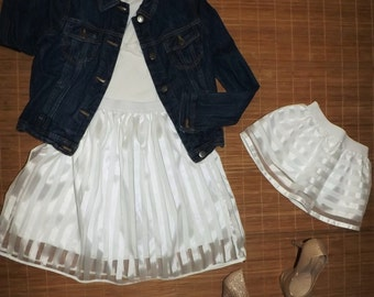 MOMMY AND ME white fashion skirts