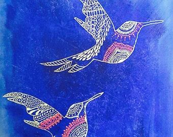Humming birds - FREE shipping