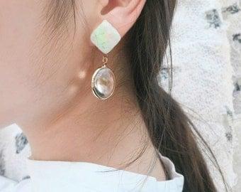 Paper-gemstone earring [Birthmonth_Febuary]