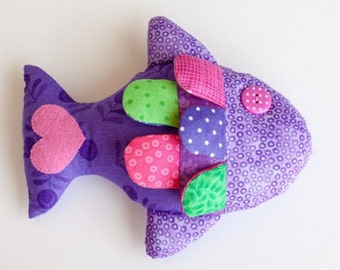 Toy softie stuffed fish sewing pattern pdf instant download