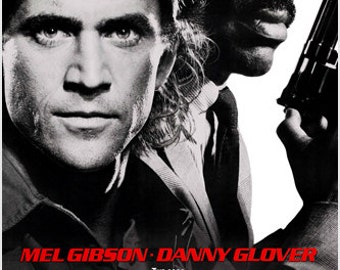 Lethal Weapon Movie Poster Gibson & Glover Adventure Action Cops Guns 24x36