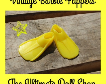 Vintage Barbie Flippers ~ Yellow