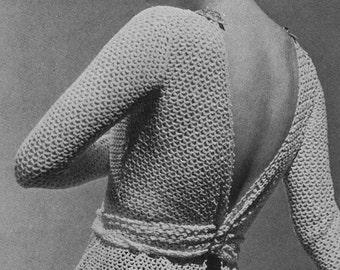 Crochet Vintage Blouse