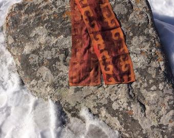 Nuno felted scarf, wool, silk