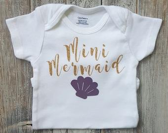 Baby girl clothes, Onesie, Mermaid onesie, Baby girl, Baby clothes, baby, Baby girl onesie, Onesies, Baby onesies, Baby girl onesies, Cute