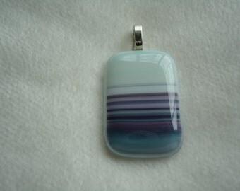 Square fused glass pendant