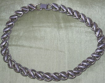 Vintage Silver Tone Necklace signed Coro