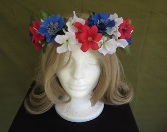 Fourth Of July Flower Crown