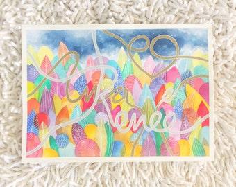 Name Custom, Original Illustration, Custom Art, Personalized Name, Watercolor Illustration, Watercolor Original 9 x 12, Lettering
