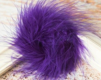 Purple marabou feather puffs, marabou puffs, hair feathers, wholesale feather ostrich feathers, purple feathers for crafts, marabou boa puff