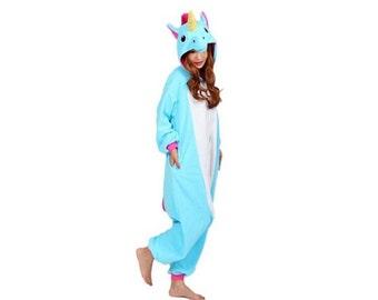 ON SALE! Blue unicorn onesie