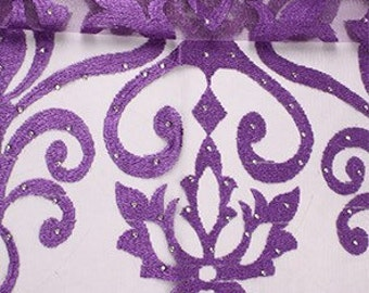 Purple Tulle/French Tulle Lace