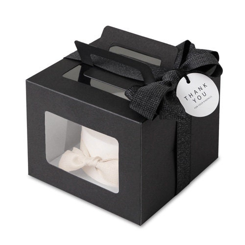 4 mini cake boxes boxes with window gable boxes with for Black box container studios