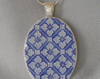 Handmade porcelain pendant necklace