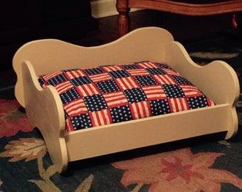 Wooden Dog Bed, Bone Dog Bed, handmade dog bed, dog furniture