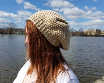 Neutral Colored Slouch Hat