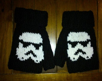 Star Wars Storm Trooper Fingerless Mittens