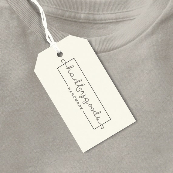 custom clothing tags handmade tag product label business. Black Bedroom Furniture Sets. Home Design Ideas