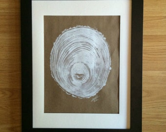 Elm I Tree Ring Art Print