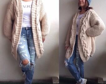 Oversized jacket coat hand made