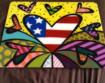 Love USA hearts, Multipurpose board