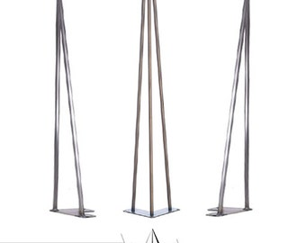 Set of 4 Hairpin Table Legs - Industrial Retro Style 12mm Steel Rod Bare Steel / Unfinished, Stock LEGS, HandMade