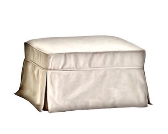 Pottery Barn Basic Ottoman ~ Replacement Slipcover