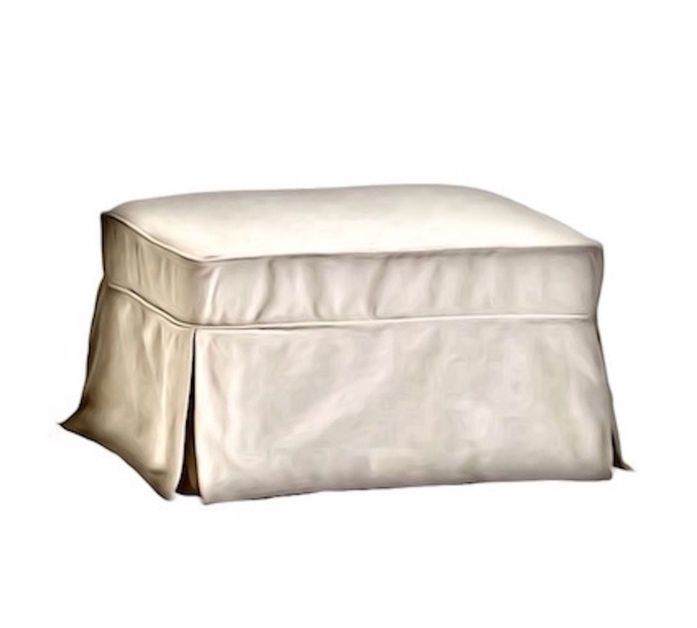 Pottery Barn Furniture Usa: Pottery Barn Basic Ottoman Replacement Slipcover