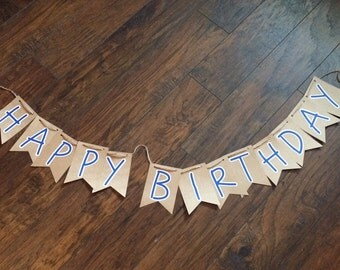 Happy Birthday Sign- Font 1