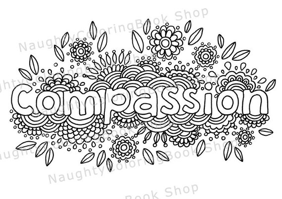 compassion coloring pages | Compassion Printable Gift Coloring Page Bare Necessities