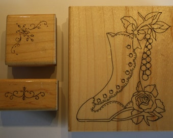 Ivory Shoe and flourish stamps by CTMH/DOTS