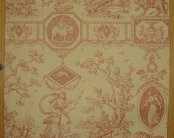 Beautiful Antique 19th C. French Neoclassic Toile Wallpaper (9374))