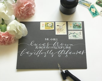 Envelope Calligraphy, Wedding Calligraphy,  Handwritten Address- AUDREY STYLE