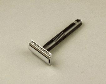 Anodized Aluminum Safety Razor, Safety Razor, Anodized Aluminum, Custom-Made Razor, Mühle Razor Head, Wet Shaving Razor, shaving gift