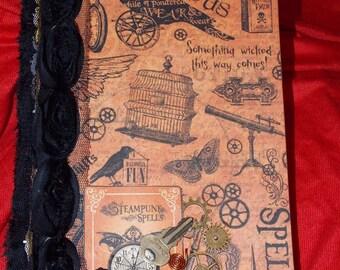 Halloweem steam punk magic potion book