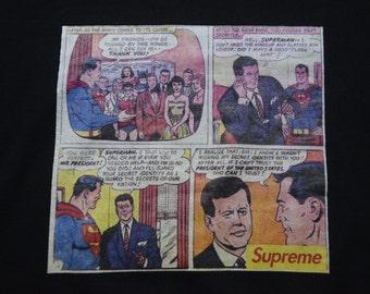 Vintage Supreme Superman Comic Strip Hoodie