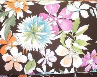 Midnight Blossoms Luxury Swimwear Fabric by the Yard