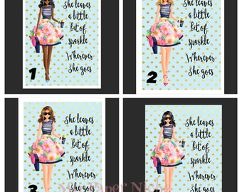 Planner Cover/ Girl around town/planner/ laminated
