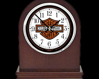 Harley Davidson Mantle Clock motorbike gift or presentation award